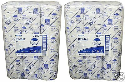 "12 x Kimberly Clark Wypall 7415 L20 Wipers 20"" Couch Rolls 380mm x 510mm White"
