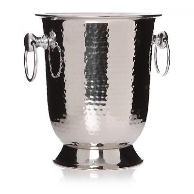 Hammered Metal Stainless Steel Ice Drink Champagne Wine Holder Cooler Bucket