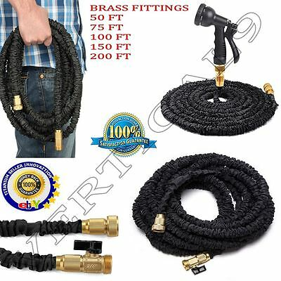 New Expandable Flexible Garden Water Hose Expanding Fittings With Spray Gun