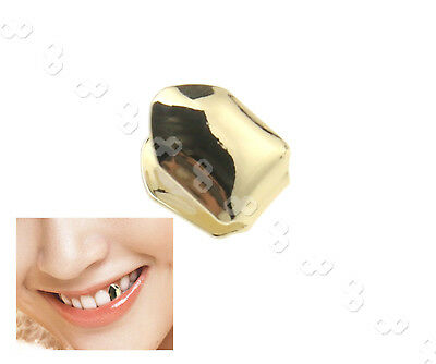 Gold Plated Small Single Tooth Cap Hip Hop Teeth Grill Gangsta Teeth Grills