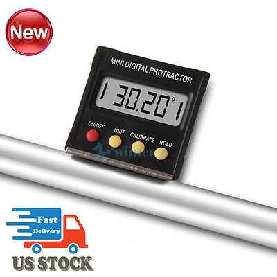 Digital Mini Angle Meter Cube Electronic Level Sensor Bevel Gauge Magnetic Base