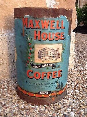 Antique Vintage Maxwell House Kitchen Bread Coffee Can Canister Like Folgers