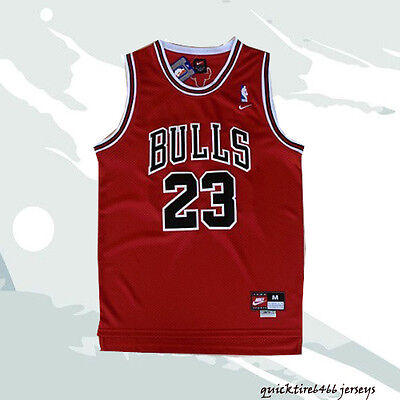 BULLS Michael Jordan Chicago Bulls #23 Basketball Jersey Red Men Jersey