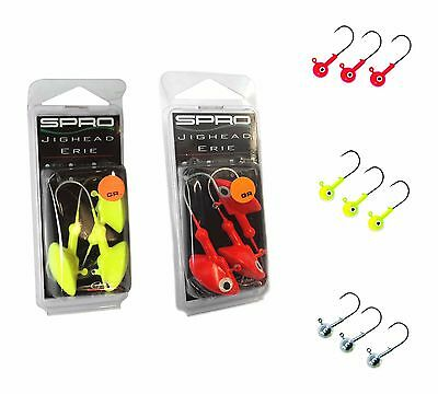 Spro Jig Head Lead Pike Fishing Predator Lures Various Models & Sizes Erie Round