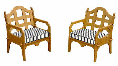 Loon Peak Burliegh Contemporary Striped Lounge Chair Set of 2