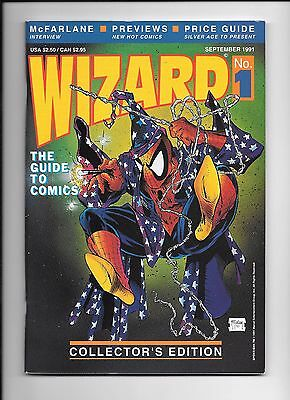 Wizard The Guide To Comics #1 September 1991 Todd McFarlane Spider-Man cover