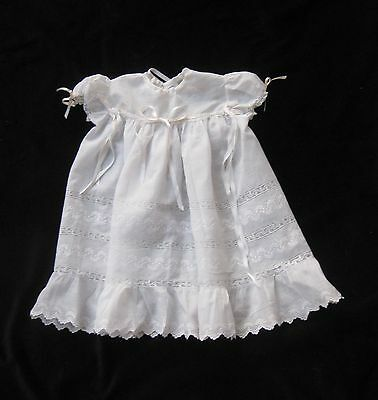 DELIGHTFUL VINTAGE BABY DRESS, Embroidered Cotton, collectors, dolls, occasions