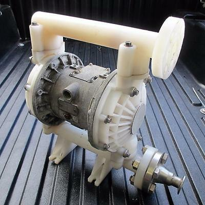 "HUSKY GRACO D75A11 1"" 1040 Polypropylene Air Operated Diaphragm Pump A03C"