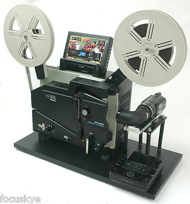 ELMO 16mm Optical Projector Telecine Video Transfer  Built-In PAL-HD Camera