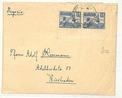 PP233 1930 Argentina Germany Cover {samwells-covers}