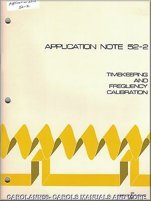 HP Application Note 52-2 TIMEKEEPING AND FREQUENCY CALIBRATION