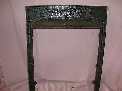 Vintage Victorian Cast Iron FIREPLACE SURROUND Architectural Salvage Frame