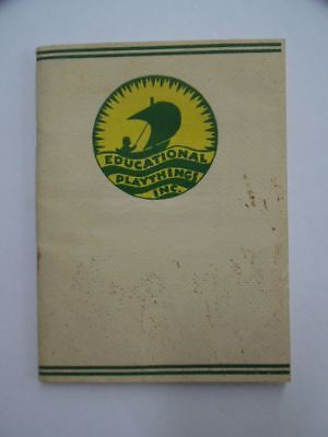 1932 Educational Playthings Inc. Catalog Toys Games Furniture Creative Rare ORIG