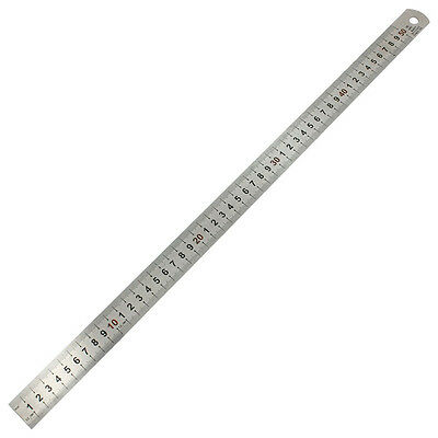 SA  Double Side Scale Stainless Steel Straight Ruler Measuring Tool 50cm