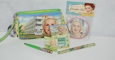 Anne Taintor Vintage Revisted I Love Not Camping 6 Piece Personal Set