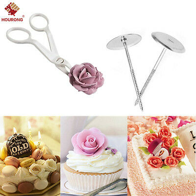 3Pcs Piping Flower Scissors+Nail Icing Bake Cake ...