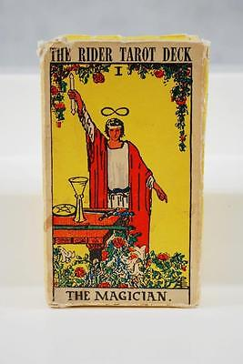 """Vintage RIDER Tarot Cards """"THE MAGICIAN"""" SWITZERLAND 78 Card Deck 1970s Complete"""