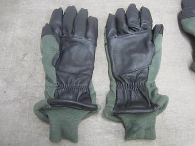 US Military Flight Gloves Nomex FLYER'S INTERMEDIATE COLD Weather Size Medium 8*