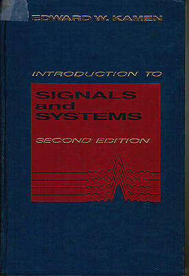 INTRODUCTION TO SIGNALS AND SYSTEMS 2nd edition Edward W Kamen1990