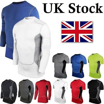 Men Body Armour Compression Under Base layer Thermal Shirt Top Skin Running
