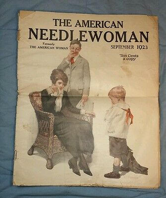 1923 THE AMERICAN NEEDLEWOMAN Magazine Sept 1923 Vintage Advertising