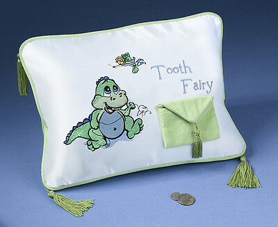 "Girl Or Boy 11""  X 8""  Embroidered Tooth Fairy Pillow With Tooth Pocket!"