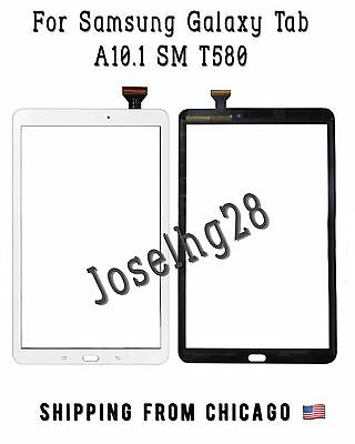 Touch Screen Digitizer Glass For Samsung Galaxy Tab A 10.1 SM-T580 BLACK- WHITE
