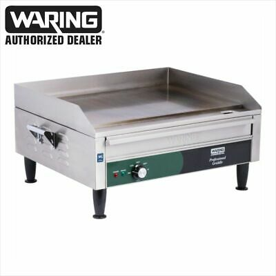 "Waring WGR240 Commercial 24"" Electric Double Countertop Griddle – 240V"