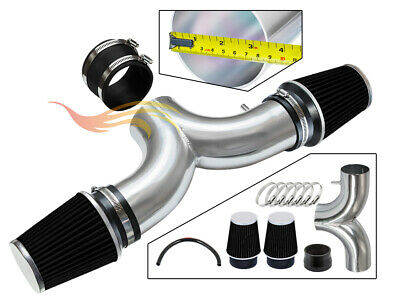 BCP BLACK 01-04 Corvette C5 5.7 V8 Dual Twin Air Intake System + Filter