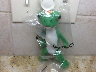 "Geico Gecko Lizard Insurance Advertising Mascot 6"" Plush New Sealed"