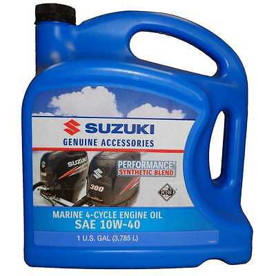 OEM Suzuki Marine Outboard Synthetic Blend 4-Cycle Engine Oil 10W-40 Gallon