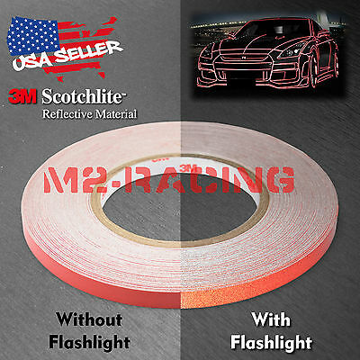 3M Red Reflective Tape Safety Self Adhesive Striping Sticker 150FT Roll 1Cm