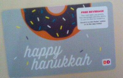 Dunkn Donuts Happy Hanukkah Gift Card, Collectible, Mint