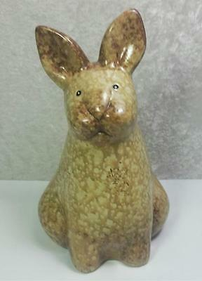 Bunny Rabbit Figurine 6 Inches Tall Country Cottage Garden Shabby As Is