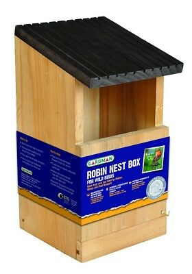 New Gardman Wooden Robin Nest Box Wild Bird Care A04380 Offer!