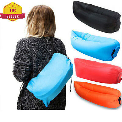 Inflatable Air Sofa Bed Lazy Sleeping Camping Bag Beach Hangout Couch Windbed 2#