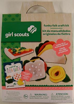 Lot of 3 Girl Scouts Funky Felt Craft Kit Idea Guide Projects Colorbok Crystals
