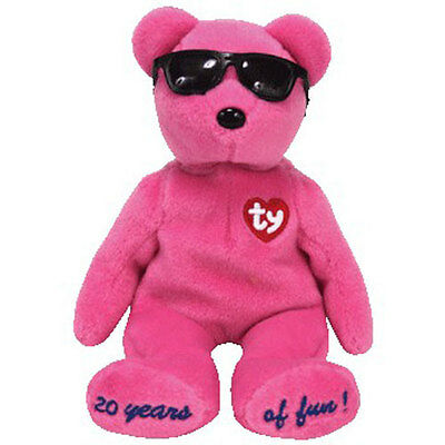 TY Beanie Baby - SUMMERTIME FUN Bear (PINK - Chigaco Gift Show Excl) (9 inch)