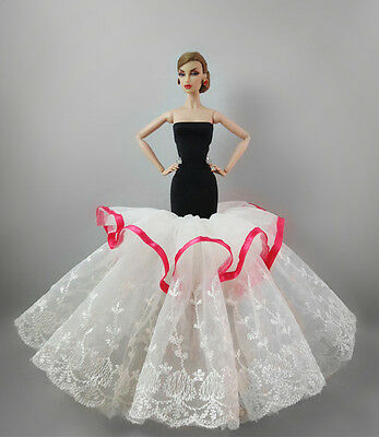 Fashion Party Princess Dress Wedding Clothes/Gown For 11.5in.Doll S366