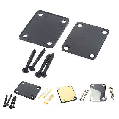 High Quality Electric Guitar Bass Neck Plate Neckplate With 4 Mounting Screws