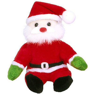 TY Jingle Beanie Baby - SANTA the Jolly Elf (5.5 inch) - MWMTs Ornament Holiday