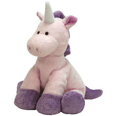 TY Pluffies - CASTLES the Unicorn (9 inch) - MWMTs Stuffed Animal Toy
