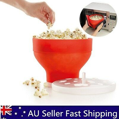 Microwave Silicone Popcorn Popper Maker Collapsible Bowl Container Kitchen Tools