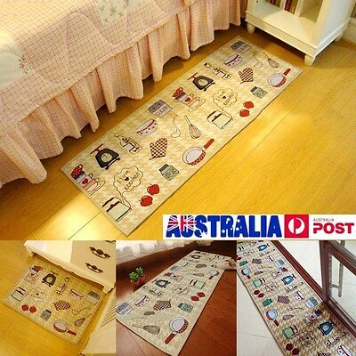 Washable Jacquard Non Slip Rug Kitchen Bedroom Floor Mats Hallway Carpet Runner