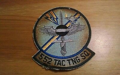 US Air Force 552nd Tactical Training Squad Full Color Embroidered Military Patch