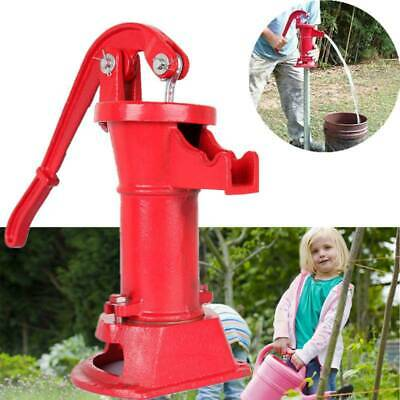 Hand Pump Well Water Pitcher Press Suction Outdoor Yard Ponds Garden Water Pump