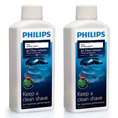 2 x Philips HQ200-50 Jett Clean Cleaning Solution for Philips Electric Shavers