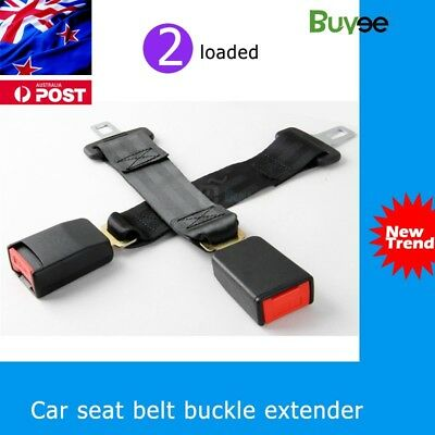 2PCS 35CM CAR AUTO SAFETY SEAT BELT EXTENSION EXTENDER 2.1cm BUCKLE GUARD KID