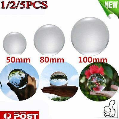 40mm/80mm/100mm Crystal Ball Quartz Glass Transparent Ball Spheres Glass Ball AU