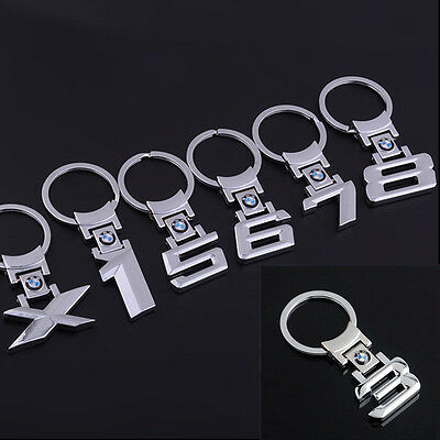 Hot BMW 1/3/5/6/7/8/X Series Style Car Logo Keychain Collect Metal KeyRing Gift